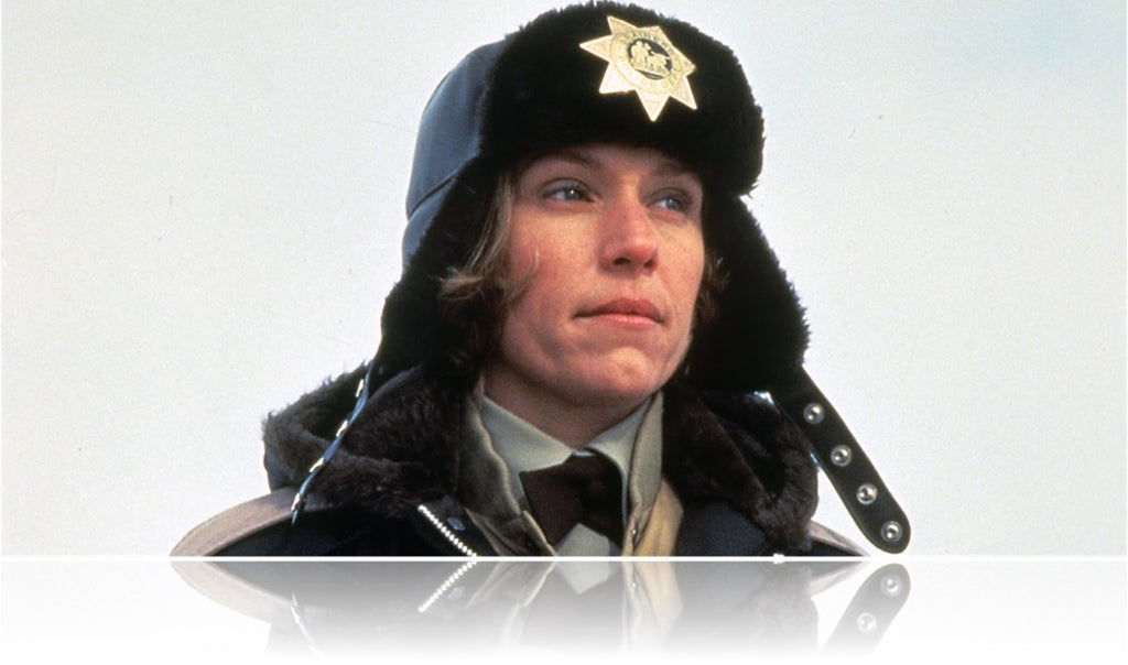 Frances McDormand as Marge Gunderson in the Coen Brothers film Fargo