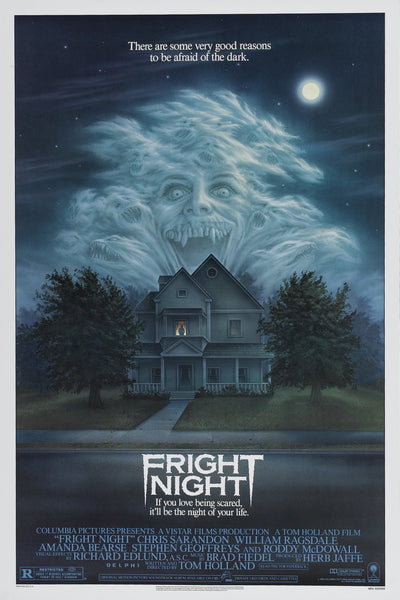 An original movie poster for the film Fright Night