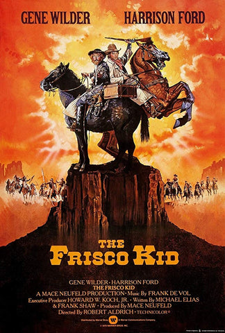An original movie poster for the film The Frisco Kid