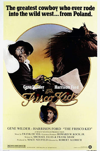 An original movie poster for The Frisco Kid by John Alvin