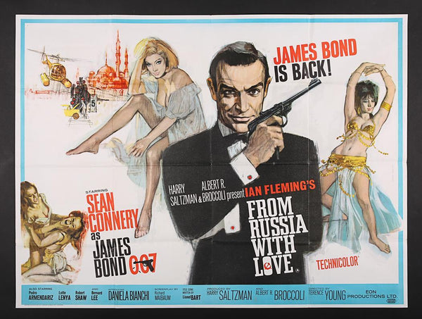 An original UK quad movie poster for the James Bond film From Russia With Love