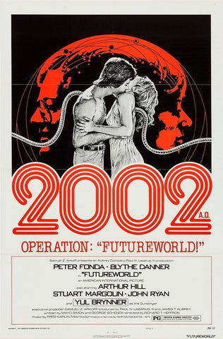 A movie poster for the film FutureWorld