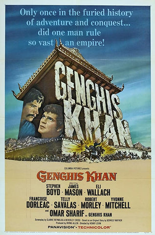 A movie poster by Frank McCarthy for the film Genghis Khan