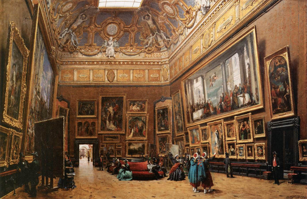 View of the Grand Salon Carré in the Louvre, Giuseppe Castiglione  (1829–1908), Musée du Louvre