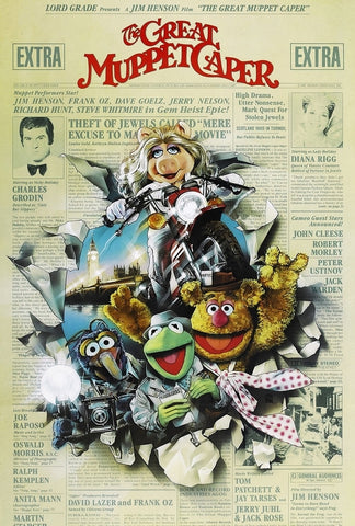 A movie poster for the film The Great Muppet Caper
