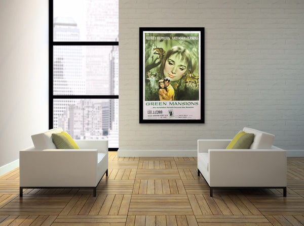 An original movie poster for the Audrey Hepburn film Green Mansion
