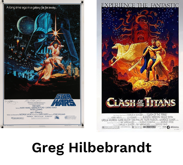 Movie posters by artist Greg Hildebrandt