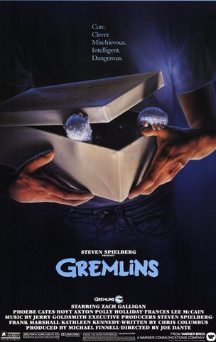 An original movie poster for the film Gremlins by John Alvin