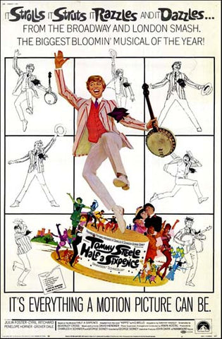 An original movie poster for the film Half A Sixpence
