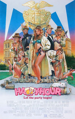 An original movie poster for the film Happy Hour