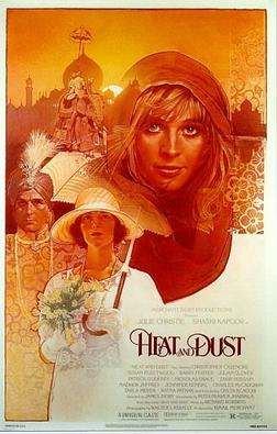 An original movie poster for the film Heat and Dust