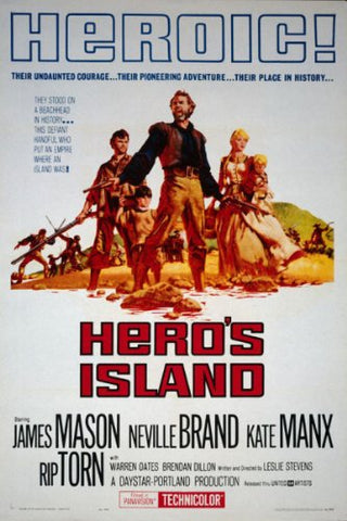 A movie poster by Frank McCarthy for the film Hero's Island