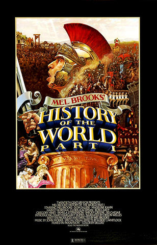 An original movie poster for the film A History of the World part one