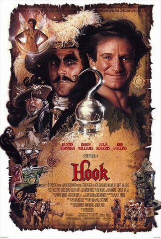 An original movie poster by Drew Struzan for the film hook