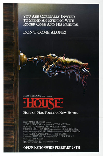 An original movie poster for the film House