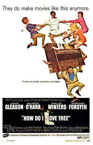 An original movie poster for the film How Do I Love Thee?