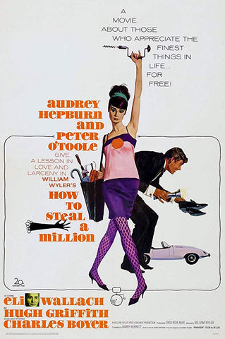 An original movie poster for the film How To Steal A Million