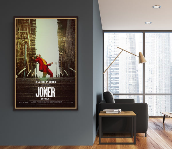 An original movie poster for the film DC film Joker