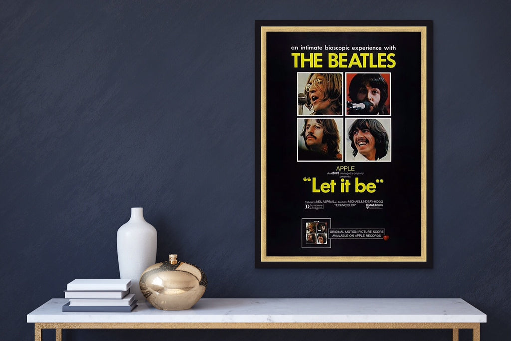 A movie poster for the Beatles Let It Be
