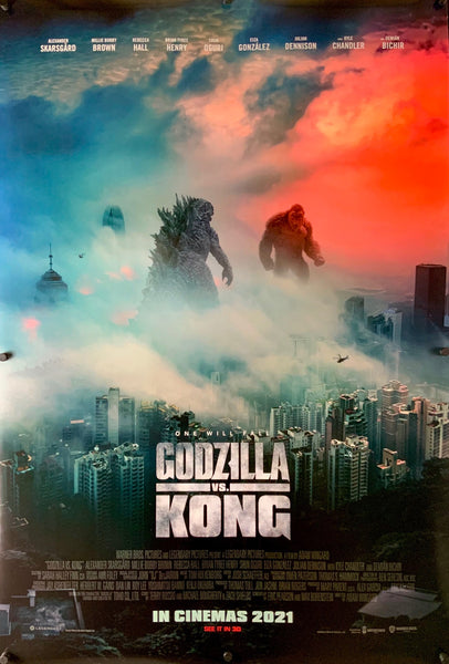 An original movie poster for the MonsterVerse film Godzilla vs Kong