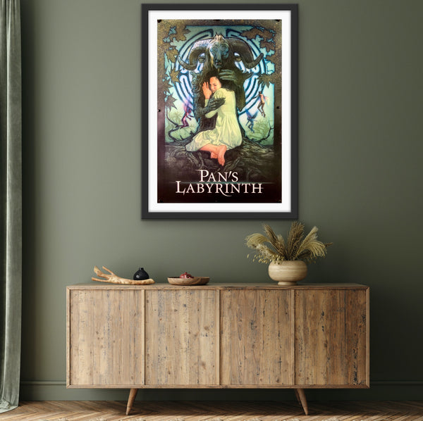 An original movie poster for the film Pan's Labyrinth by Drew Struzan