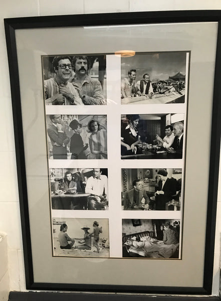 Framed movie stills