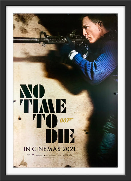 An original movie poster for the James Bond film No Time To Die