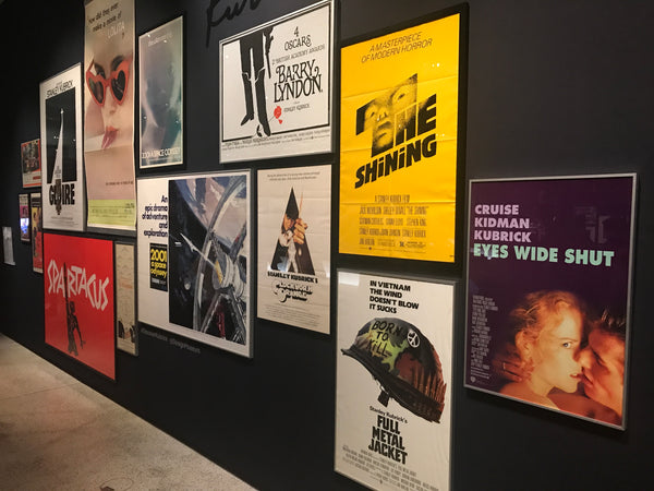 Movie posters on show at Stanley Kubrick The Exhibition