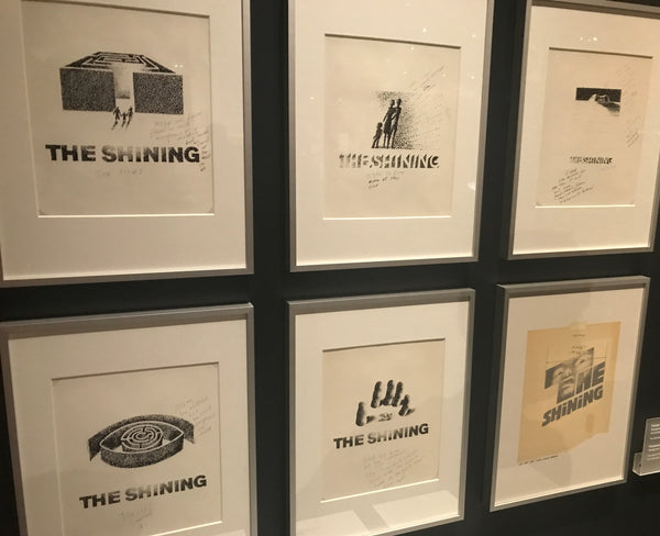 Saul Bass' concept drawings for the movie poster for Kubrick's The Shining