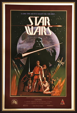 An original movie poster for Star Wars