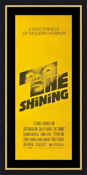 An original movie poster for the Kubrick film The Shining