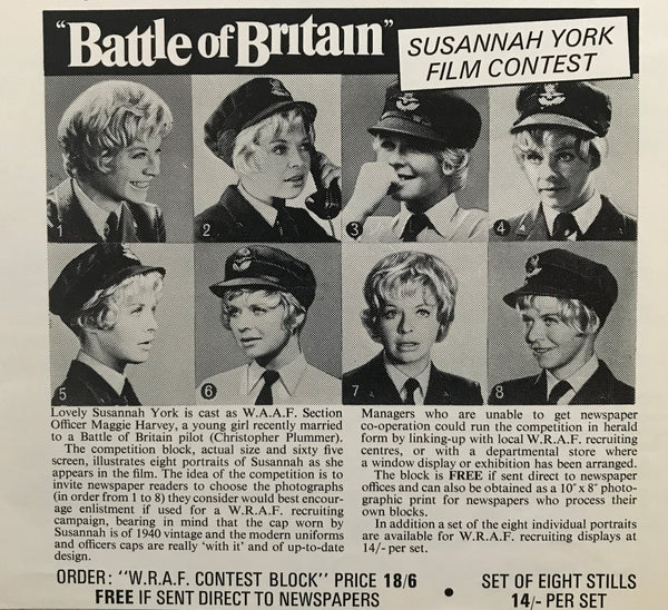 An image from the press book for the film Battle of Britain