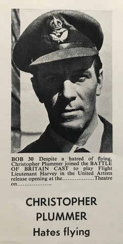 An image from the press book for the movie Battle of Britain