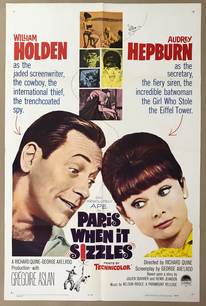 An original movie poster for the film Paris When It Sizzles
