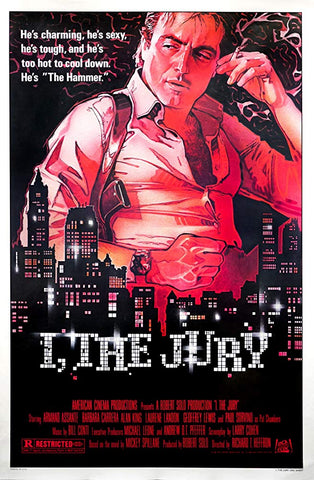 An original movie poster for the film I, The Jury