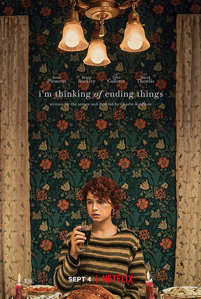 An original movie poster for the film I'm Thinking Of Ending Things