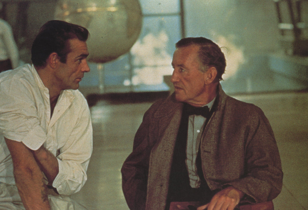 Ian Fleming and Sean Connery on the set of the James Bond film Dr No