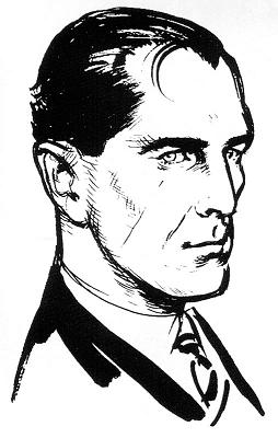 A sketch of James Bond by his creator Ian Fleming