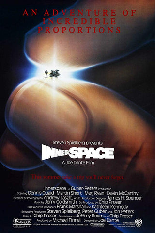 An original movie poster for Inner Space by John Alvin