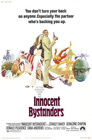 An original movie poster for the film Innocent Bystanders