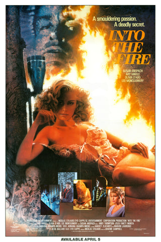 An original movie poster for the film Into The Fire
