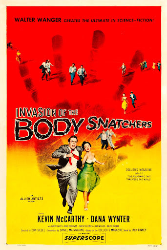 An original movie poster for the film Invasion of the Body Snatchers