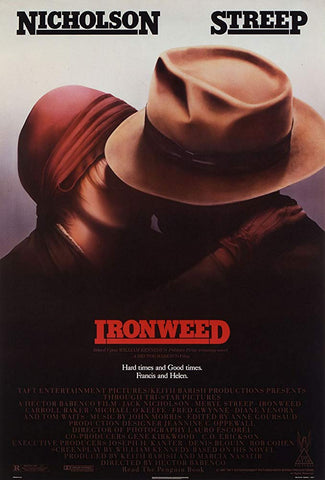 An original movie poster for the film Ironweed by John Alvin