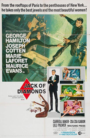 An original movie poster for the film Jack Of Diamonds