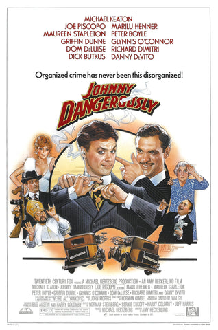 An original movie poster for the film Johnny Dangerously