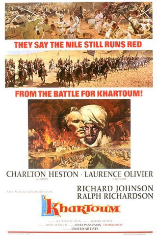A movie poster by Frank McCarthy for the film Khartoum