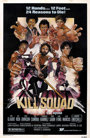 An original movie poster for the film Kill Squad