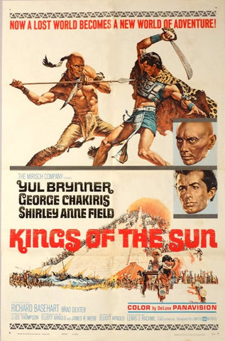A movie poster by Frank McCarthy for the film Kings of the Sun