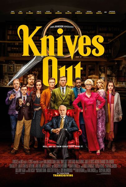 An original movie poster for Knives Out