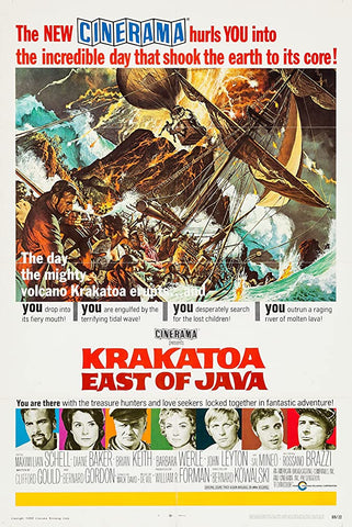 A movie poster by Frank McCarthy for the film Krakatoa East of Java
